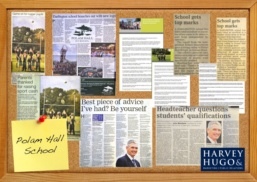 Polam Hall School, Darlington, North East, Independent day and boarding school, press releases, coverage, North East publications, PR, Harvey & Hugo