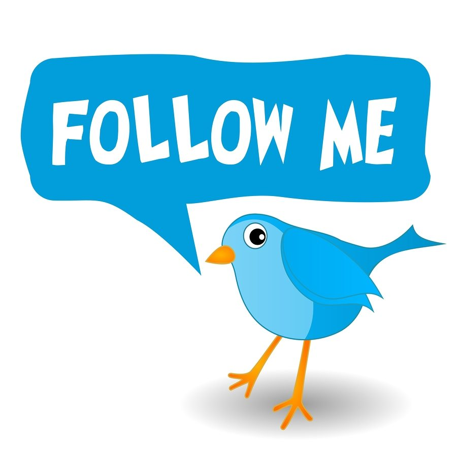 Follow Me On Twitter Self-Inking Rubber Stamp